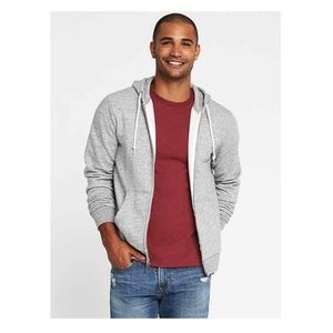• MENS OLD NAVY HOODED ZIP UP SWEATER •